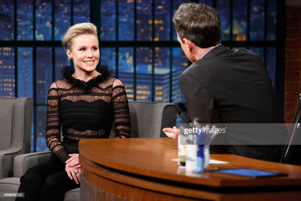 Actress Kristen Bell during an interview with host Seth Meyers on March 22, 2017 --