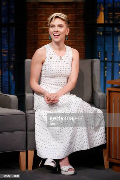 Actress Scarlett Johansson during an interview on March 28 2017