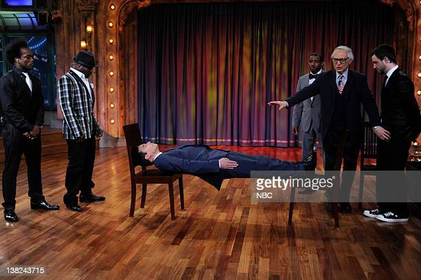 FALLON Episode 51 Airdate Pictured Host Jimmy Fallon during a skit with Mentalist The Amazing Kreskin on May 25 2009