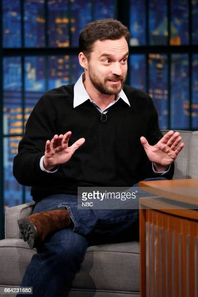 Actor Jake Johnson during an interview on April 3 2017