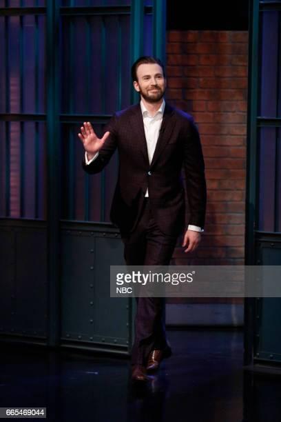 Actor Chris Evans arrives on April 5 2017