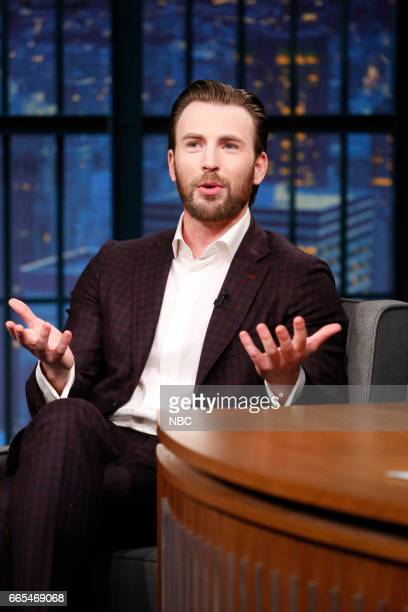 Episode 514 -- Pictured: Actor Chris Evans during an interview on April 5, 2017 --
