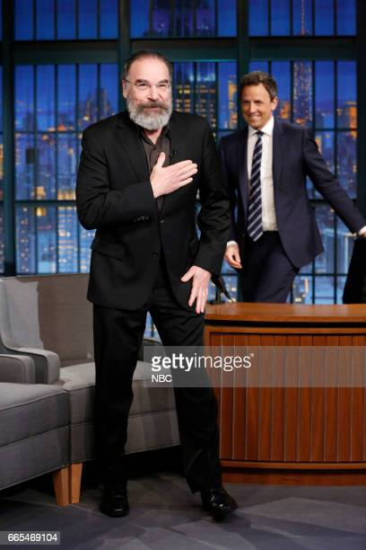 Episode 514 -- Pictured: Actor Mandy Patinkin arrives on April 5, 2017 --