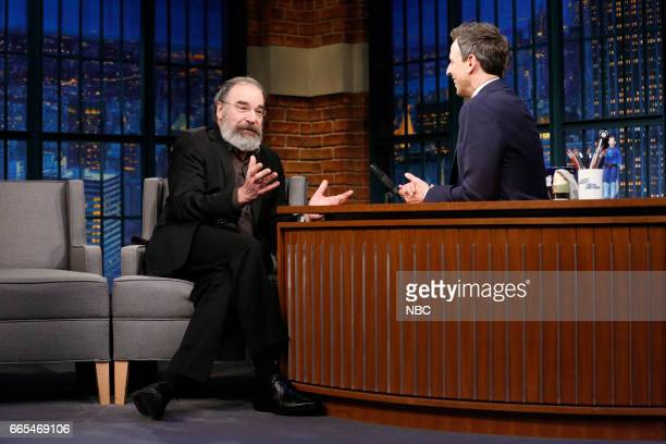 Episode 514 -- Pictured: Actor Mandy Patinkin during an interview with host Seth Meyers on April 5, 2017 --
