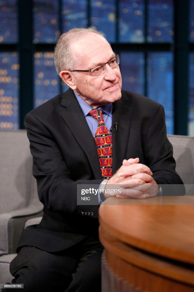 Author Alan Dershowitz during an interview on April 5, 2017 --