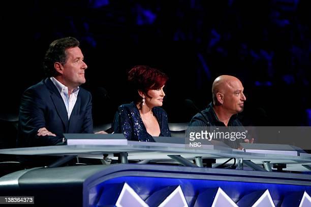 Episode 514 -- Pictured: Piers Morgan, Sharon Osbourne, Howie Mandel