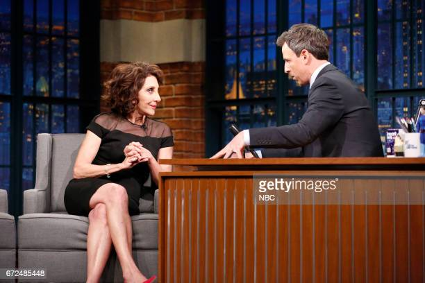 Actress Andrea Martin during an interview with host Seth Meyers on April 24 2017