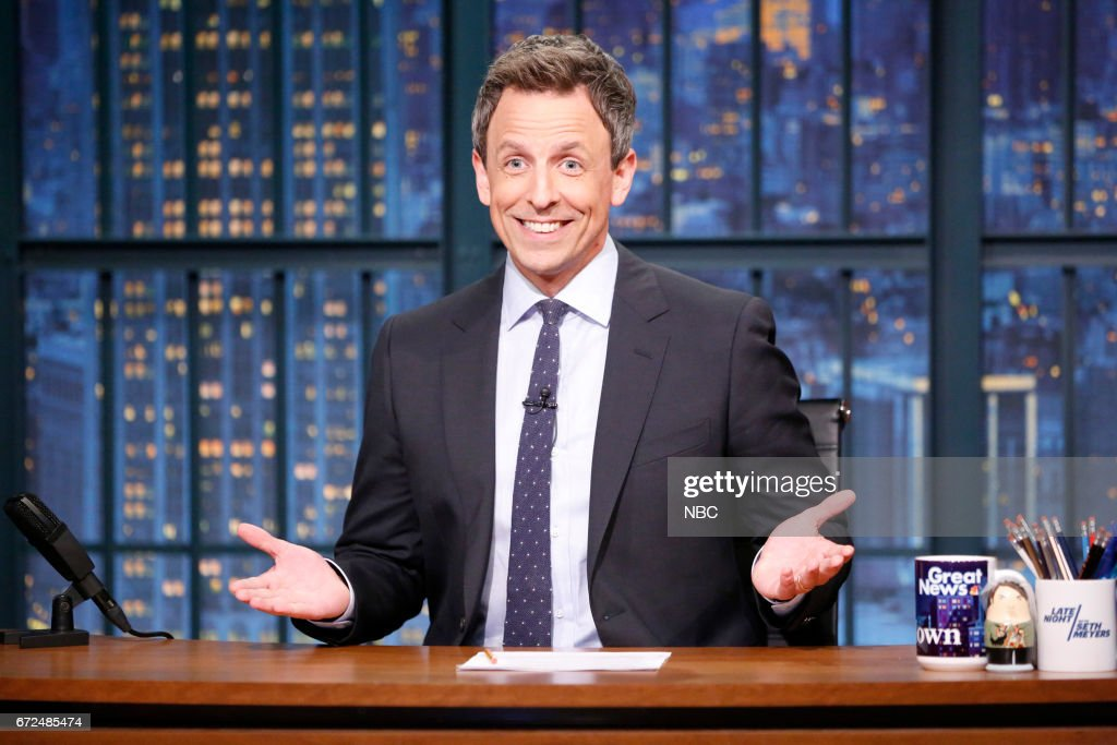 "NBC's ""Late Night With Seth Meyers"" With Guests Jason Sudeikis, Andrea Martin, Jan Bohmermann"