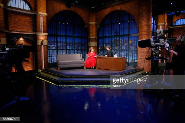 Actress America Ferrera during an interview with host Seth Meyers on May 1 2017