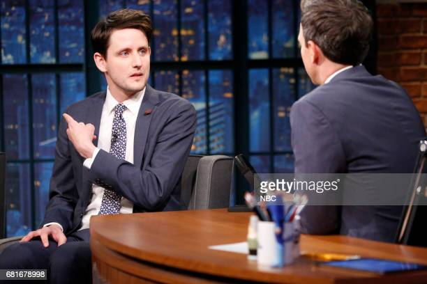 Actor Zach Woods during an interview with host Seth Meyers on May 10 2017