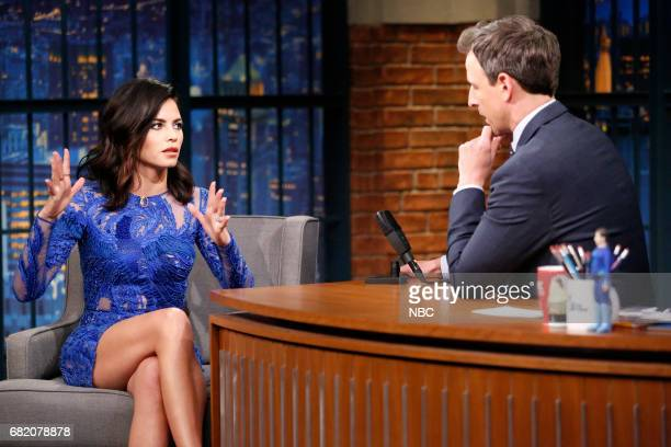 Actress/dancer Jenna Dewan Tatum during an interview with host Seth Meyers on May 11 2017