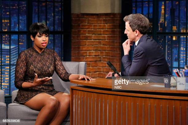 Singer/actress Jennifer Hudson during an interview with host Seth Meyers on May 16 2017