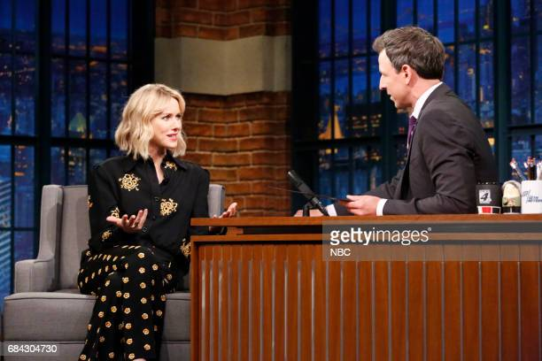 Actress Naomi Watts during an interivew with host Seth Meyers on May 17 2017