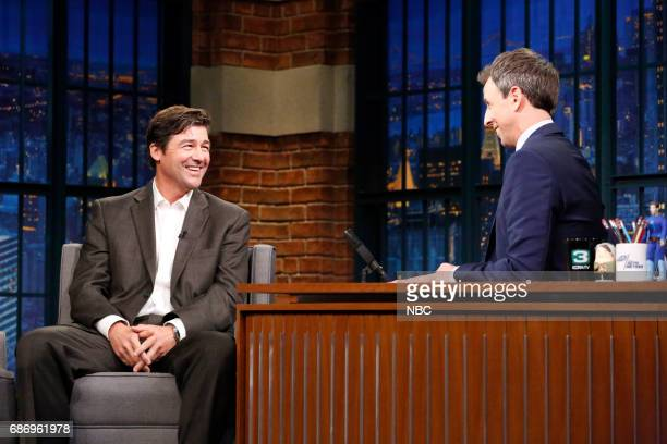 Actor Kyle Chandler during an interview with host Seth Meyers on May 22 2017