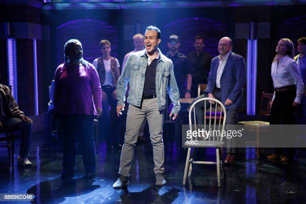 The cast of the musical Come From Away perform on May 22 2017