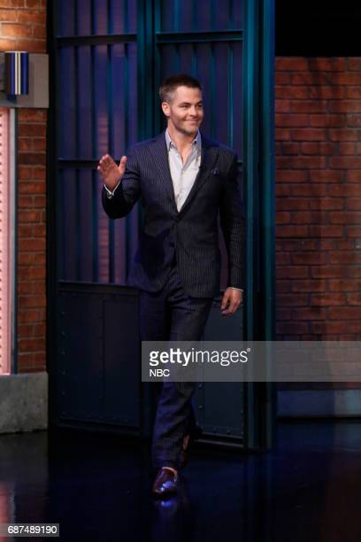 Actor Chris Pine arrives on May 23 2017