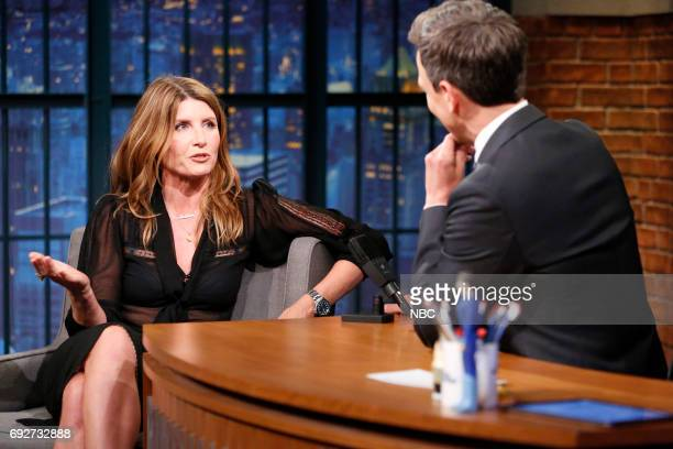 Actress Sharon Horgan talks with host Seth Meyers during an interview on June 5 2017