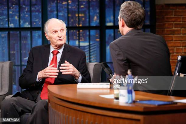 Actor Alan Alda talks with host Seth Meyers during an interview on June 7 2017
