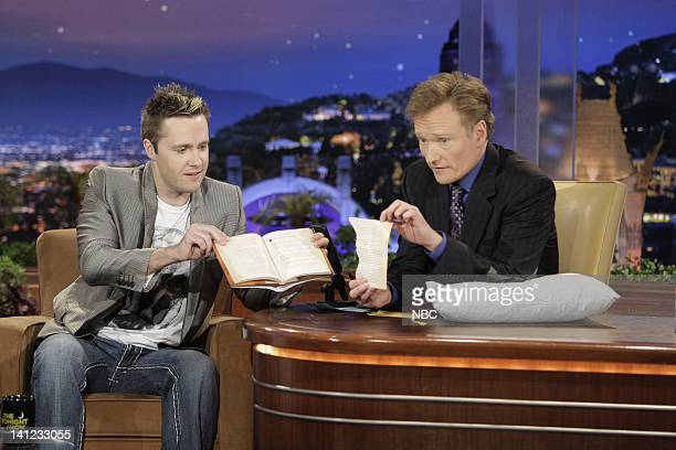 Episode 54 -- Air Date -- Pictured: Mentalist Keith Barry during an interview with host Conan O'Brien on August 27, 2009 -- Photo by: Paul...