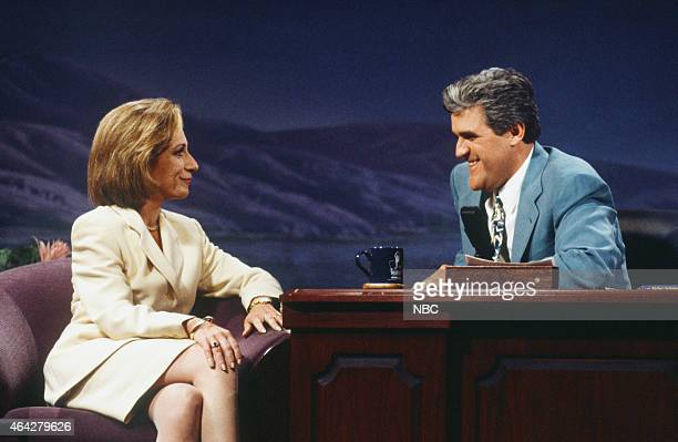Journalist Andrea Mitchell during an interview with host Jay Leno on August 21 1992