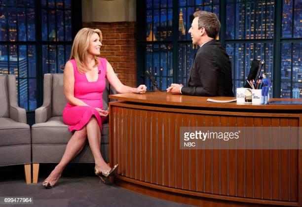 Journalist Nicolle Wallace during an interview with host Seth Meyers on June 21 2017