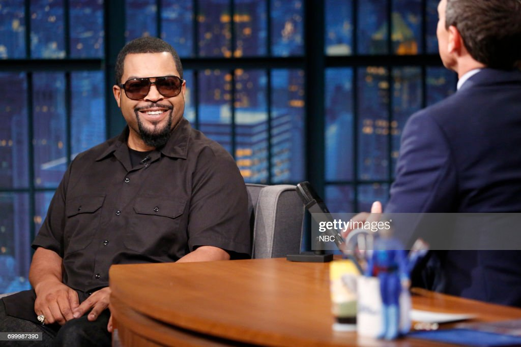 Actor/musician Ice Cube during an interview with host Seth Meyers on June 22, 2017 --
