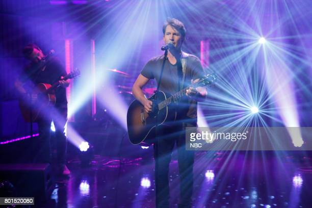Episode 548 -- Pictured: Musical guest James Blunt performs on June 26, 2017 --
