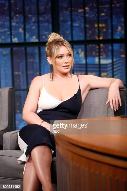 Actress/singer Hilary Duff during an interview on June 28 2017