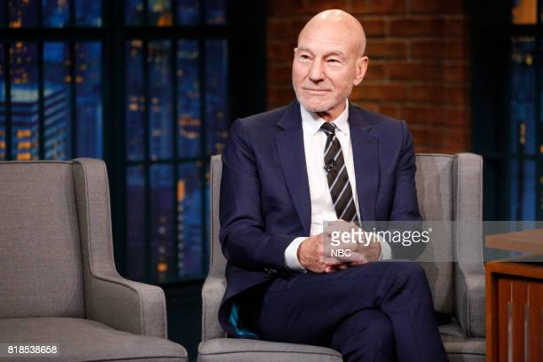 Actor Patrick Stewart during an interview on July 18 2017