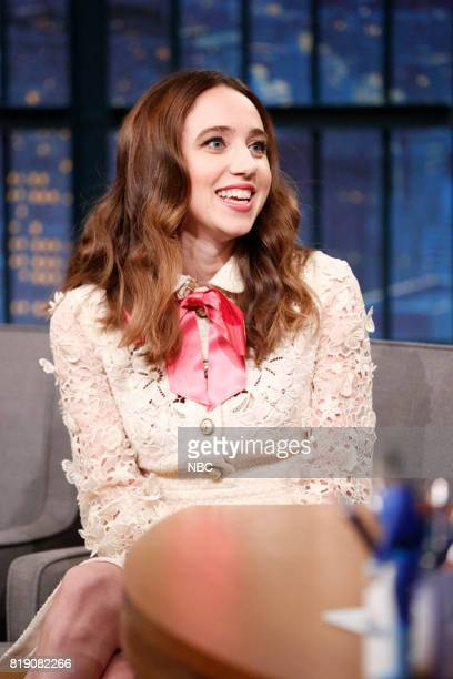 Actress Zoe Kazan during an interview on July 19 2017