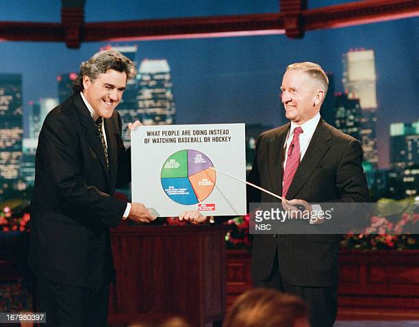 Host Jay Leno and businessman Ross Perot during a skit on