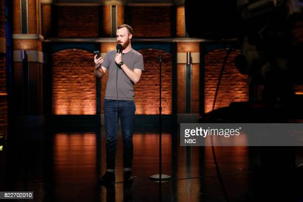 Comedian Ahamed Weinberg performs on July 25 2017