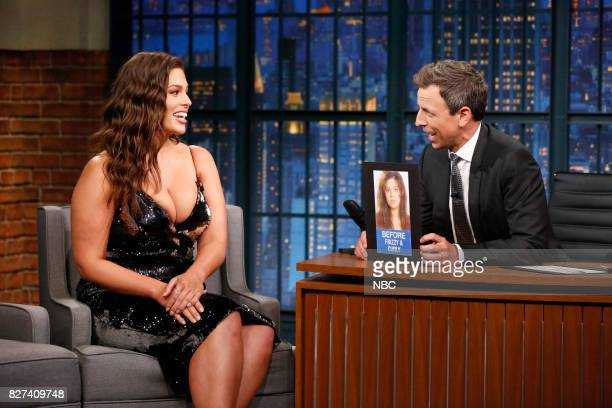 Model Ashley Graham talks with host Seth Meyers during an interview on August 7 2017