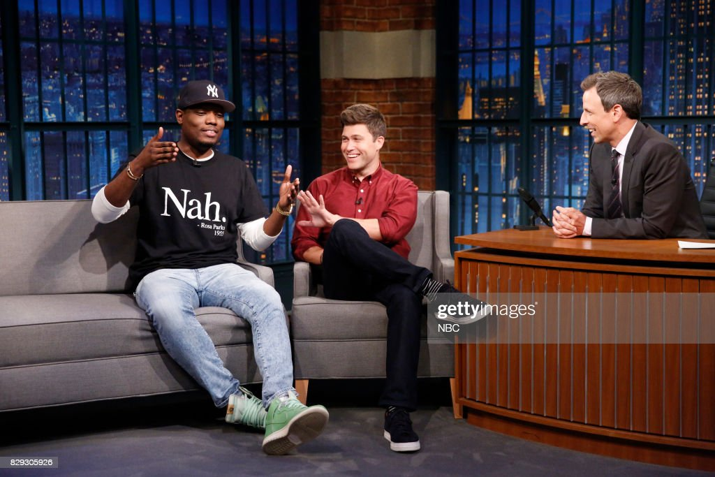 """NBC's """"Late Night With Seth Meyers"""" With Guests Colin Jost & Michael Che, Brian Knappenberger,"""