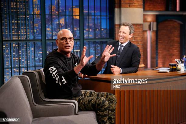 Comedian Howie Mandel during an interview with host Seth Meyers on August 10 2017