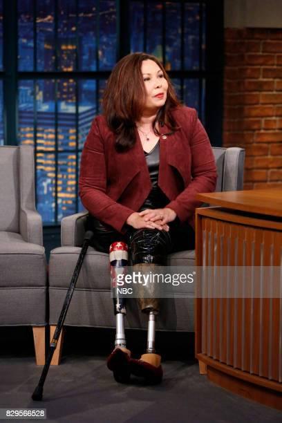 Senator Tammy Duckworth during an interview on August 10 2017