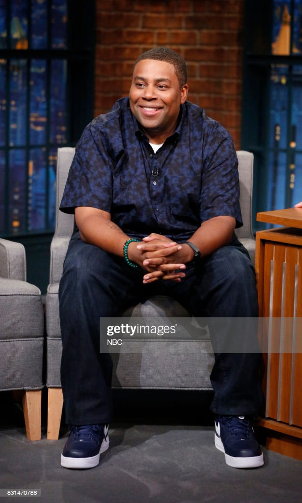 """NBC's """"Late Night With Seth Meyers"""" With Guests Kenan Thompson, Leah Remini, Bryan Fogel, Band Sit In: Roy Mayorga"""