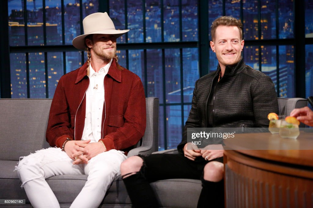 Brian Kelley & Tyler Hubbard of Florida Georgia Line during an interview on August 16, 2017 --