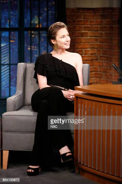 Actress Carrie Coon during an interview on August 17 2017