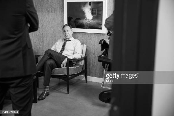 MEYERS Episode 572 Pictured Journalist Jake Tapper backstage on September 5 2017