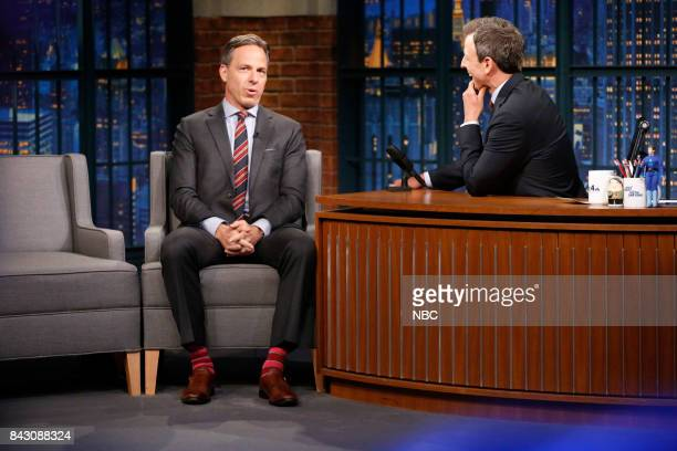Journalist Jake Tapper during an interview with host Seth Meyers on September 5 2017