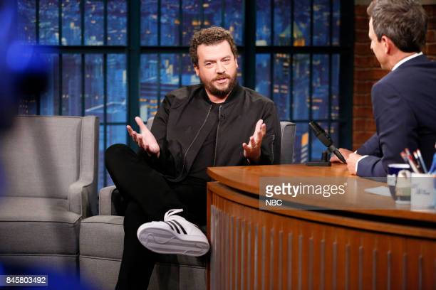 Actor Danny McBride talks with host Seth Meyers during an interview on September 11 2017