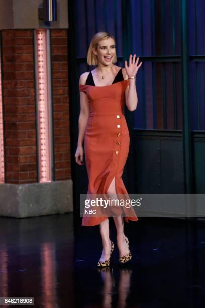 Actress Emma Roberts arrives on September 12 2017