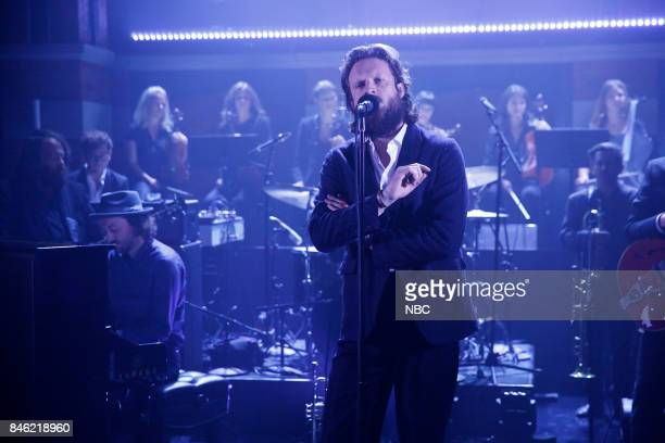 Musical guest Father John Misty performs on September 12 2017
