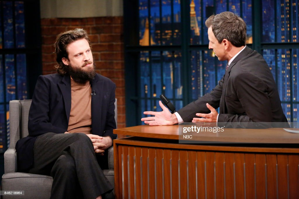 """NBC's """"Late Night With Seth Meyers"""" With Guests Emma Roberts, Father John Misty"""