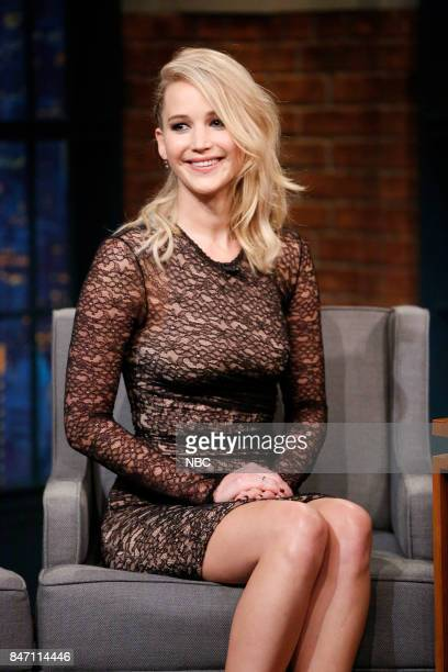 Actress Jennifer Lawrence during an interview on September 14 2017