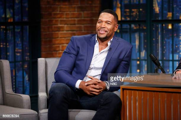 Michael Strahan during an interview on October 2 2017