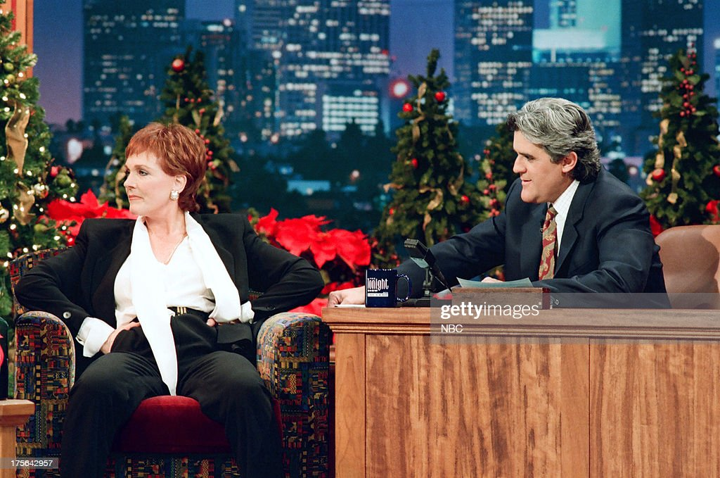 Actress Julie Andrews during an interview with host Jay Leno on ...