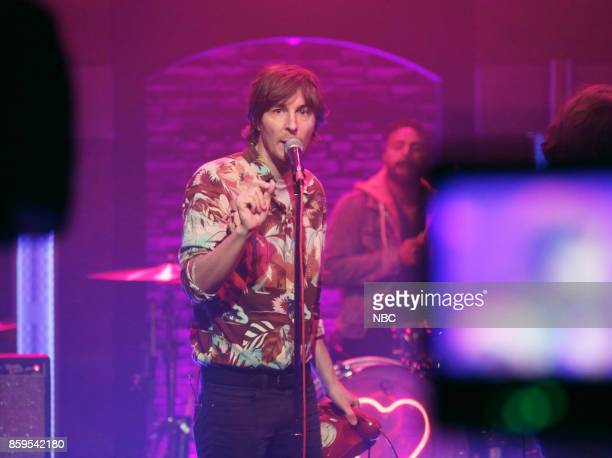 Musical guest Thomas Mars of Phoenix performs on October 9 2017