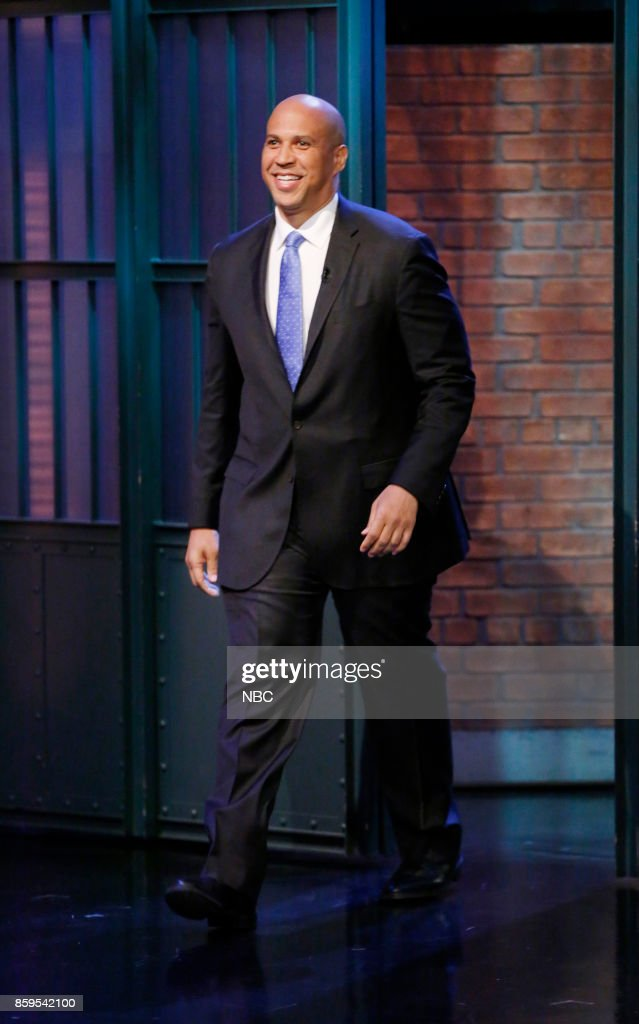 "NBC's ""Late Night With Seth Meyers"" With Guests Sen. Corey Booker, Mackenzie Davis, PHOENIX,"